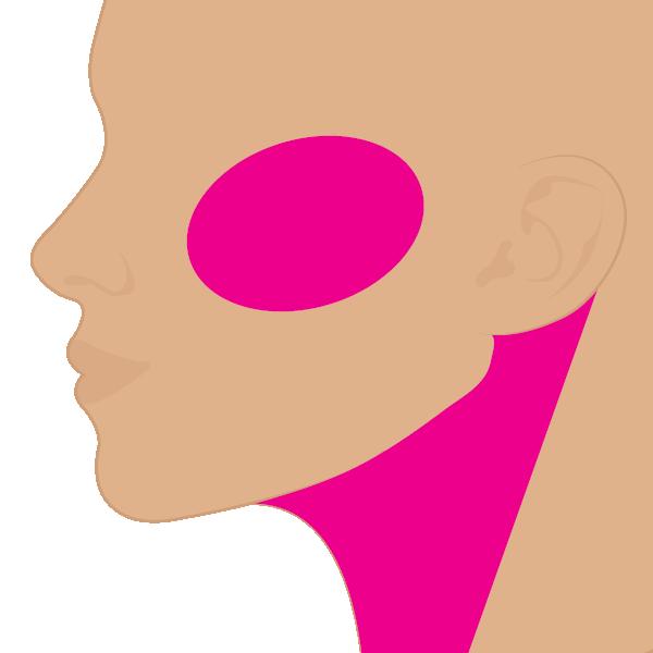 Pómulos y Cuello