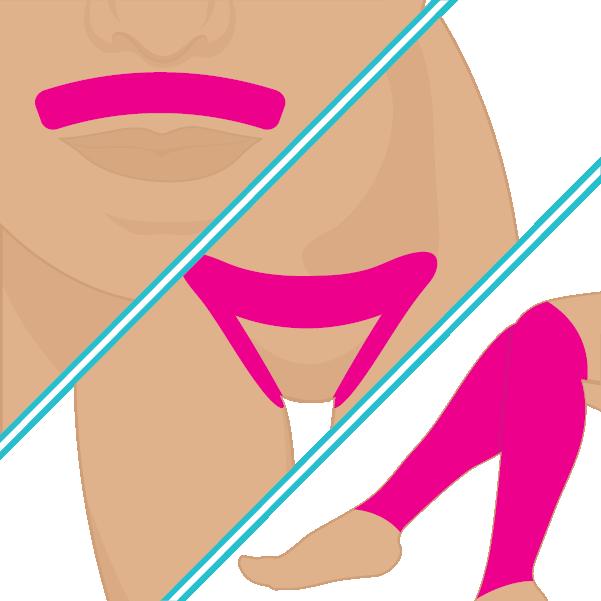 Labio superior + Bikini + Mitad de Piernas
